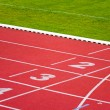Stock Photo: Sport track lanes
