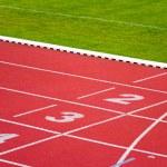 Sport track lanes — Stock Photo