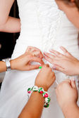 Bride preparation — Stock Photo