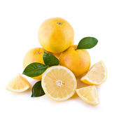 White grapefruits isolated — Stock Photo