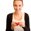 Young smiled girl — Stock Photo #8770061