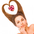 Young Valentine's Day girl — Stock Photo #8809761