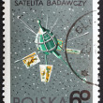Postage stamp Poland 1966 Ariel 2, Satellite by Great Britain — Stock Photo #11401151