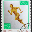 Postage stamp Poland 1965 Relay Race, Silver Medal by Poland Tok — Stock Photo #11401700