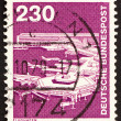 Postage stamp Germany 1979 Frankfurt Airport — Stock Photo