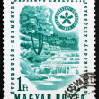 Postage stamp Hungary 1964 Waterfall and Forest — Stock Photo #12013263