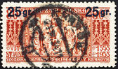 Postage stamp Poland 1934 Altar Panel of St. Mary — Stock Photo