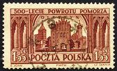 Postage stamp Poland 1954 View of Olsztyn — Stock Photo