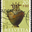 Stock Photo: Postage stamp Switzerland 1972 Bronze Hydria, Hallstadt Period