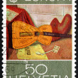 Postage stamp Switzerland 1975 Still Life with Guitar by Rene Au — Stock Photo #12020480