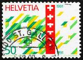 Postage stamp Switzerland 1990 Swiss Confederation — Stock Photo