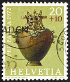 Postage stamp Switzerland 1972 Bronze Hydria, Hallstadt Period — Stock Photo