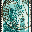 Postage stamp Italy 1948 Plane over Capitol Bell Tower - Stock Photo