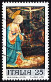 Postage stamp Italy 1970 Virgin and Child by Fra Filippo Lippi — Stock Photo
