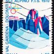 Postage stamp Italy 1970 Sassolungo and Sella Group, Dolomite Al — Stock Photo