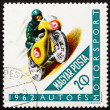 Stock Photo: Postage stamp Hungary 1962 Racing Motorcyclist