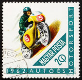 Postage stamp Hungary 1962 Racing Motorcyclist — Stock Photo