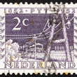 Postage stamp Netherlands 1952 Telegraph Poles and Train of 1852 — Stock Photo