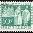 Postage stamp Netherlands 1952 Mail Delivery 1852 — Stock Photo