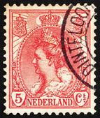 Postage stamp Netherlands 1898 Queen Wilhelmina — Stock Photo