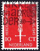 Poštovní známka Nizozemsko 1955 Plamenný meč — Stock fotografie