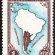 Postage stamp Argentina 1936 Map of South America — Stock Photo