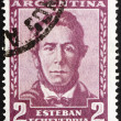 Stock Photo: Postage stamp Argentin1957 EstebEcheverria, Poet