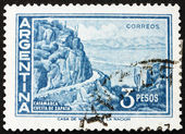 Znaczek argentyna 1960 zapata stoku, catamarca — Zdjęcie stockowe
