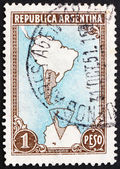Postage stamp Argentina 1951 Map Showing Antarctic Claims — Stock Photo