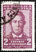 Postage stamp Argentina 1957 Esteban Echeverria, Poet — Stock Photo