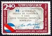 Postage stamp Uruguay 1965 Artigas Quotation, Jose Artigas — Stock Photo