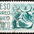 Postage stamp Mexico 1950 Puebla, Dance of the Half Moon — Stock Photo