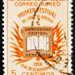 Stockfoto: Postage stamp Venezuel1956 Book and Flags of AmericNations