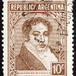 Постер, плакат: Postage stamp Argentina 1942 Bernardino Rivadavia President