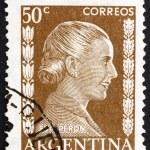 Постер, плакат: Postage stamp Argentina 1952 Eva Peron Evita
