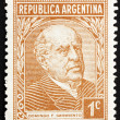 Photo: Postage stamp Argentin1935 Domingo Faustino Sarmiento