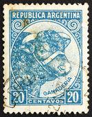 Postzegel Argentinië 1942 stier, veeteelt — Stockfoto