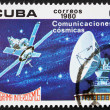 Postage stamp Cuba 1980 Satellite Communications, Intercosmos — Stock Photo