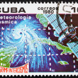 Stock Photo: Postage stamp Cub1980 Meteorology, Intercosmos