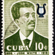Postage stamp Cuba 1958 Jose White, Musician — Stock Photo