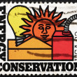 Stock Photo: Postage stamp US1977 Energy Conservation