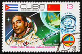 Postage stamp Cuba 1980 Arnaldo Tamayo Mendez, Intercosmos — Stock Photo