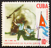 Postage stamp Cuba 1962 Bay of Pigs Invasion — Stock Photo