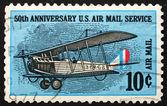 Postage stamp USA 1968 Curtiss Jenny, Biplane — Stock Photo