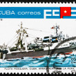 Postage stamp Cuba 1978 Inshore Stern Trawler — Stock Photo