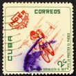 Stock Photo: Postage stamp Cub1962 Bicycling