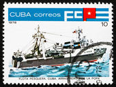 Postage stamp Cuba 1978 Inshore Stern Trawler — Stock Photo