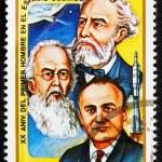 ������, ������: Postage stamp Cuba 1981 Jules Verne Konstantin E Tsiolkovski a
