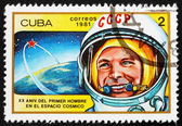 Postage stamp Cuba 1981 Yuri Gagarin, 1st Man in Space — Stock Photo