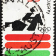 Foto Stock: Postage stamp Australi1972 Equestrian, 20th Olympic Games, Mun